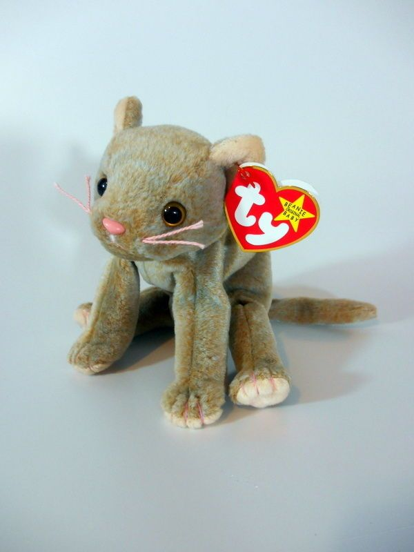 78c3bfefab2 Ty Beanie Baby Scat the Cat Retired Misspellings Errors Rare 1998 tag tush  1999  Ty