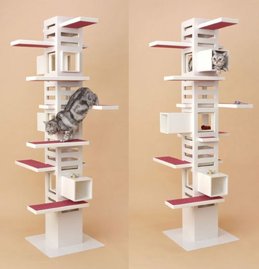 Fresco Of Interesting And Modern Cat Trees Design For Your Lovable