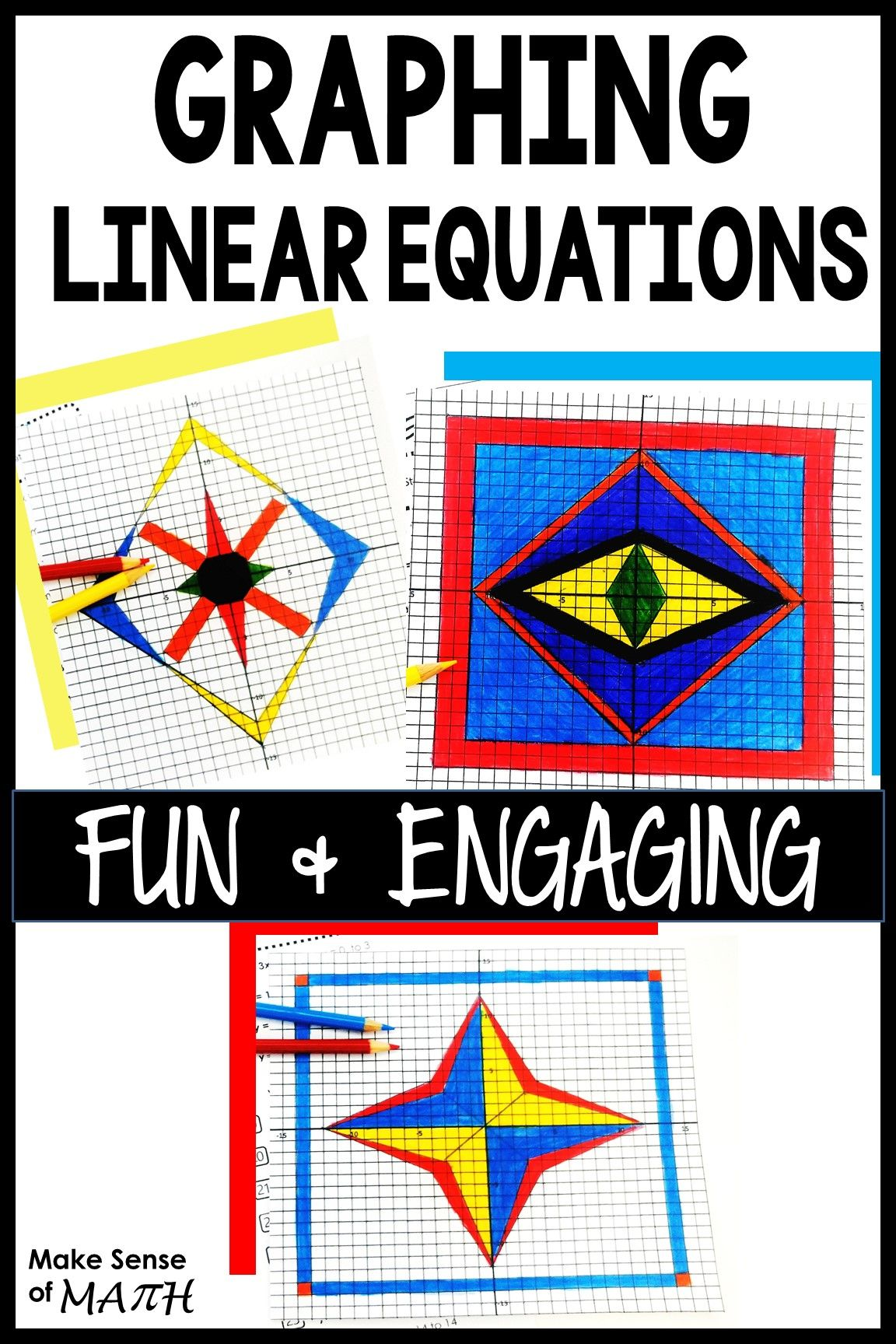 Graphing Art Great Ideas To Practice Graphing Linear
