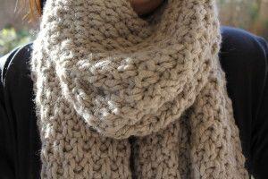 tricoter une echarpe point de ble