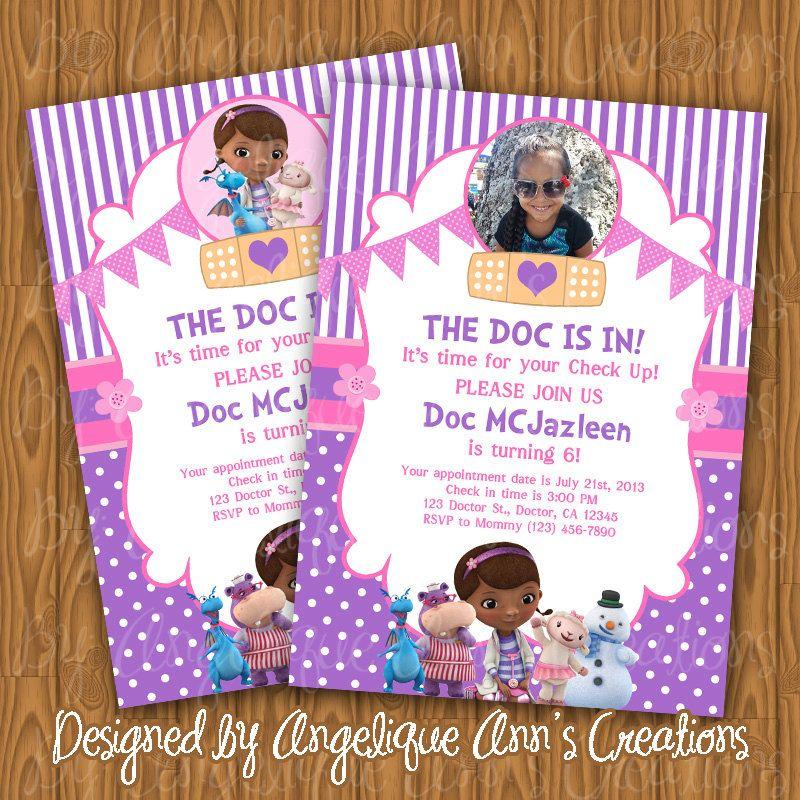 Doc McStuffins Invitations DIY Printable by jayarmada on ...