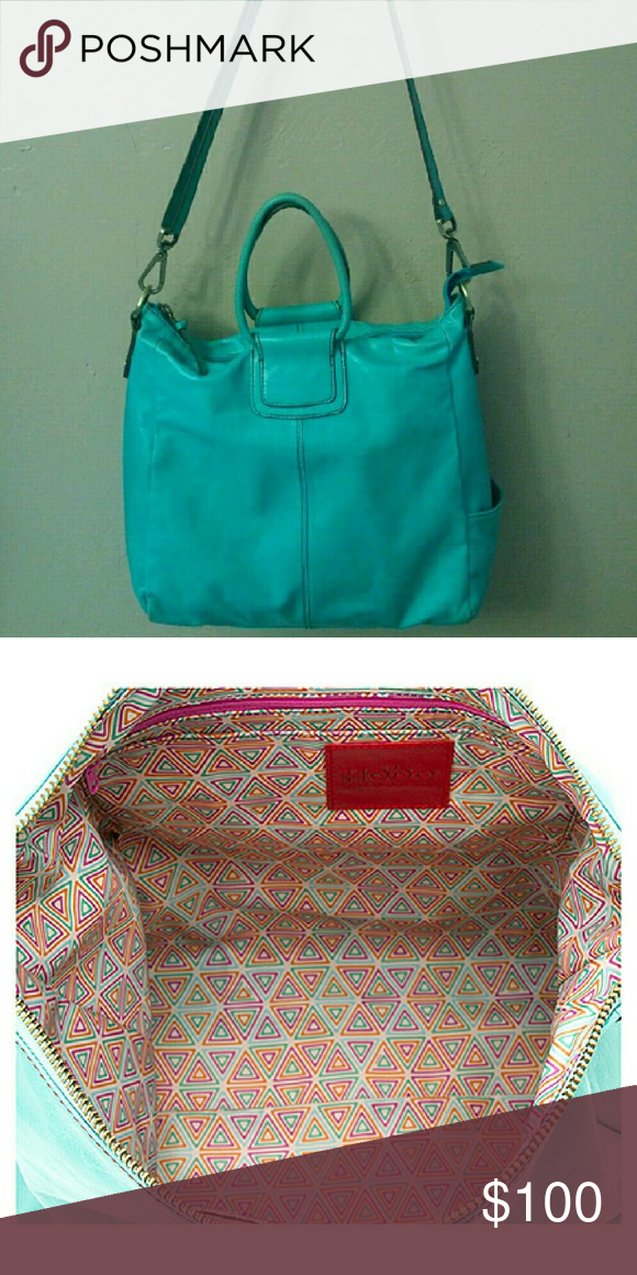 3a9a94d1aa02 Hobo Sheila large tote crossbody in Aqua Great condition hobo international  Sheila in aqua. Used a few times. Long shoulder strap or use as cross-body.