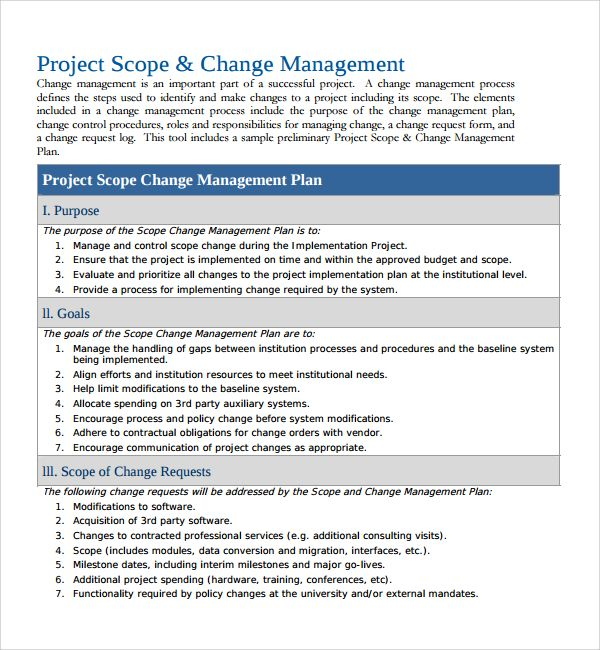 10+ Change Management Plan Templates Word, Excel  PDF Templates - Change Management Plan