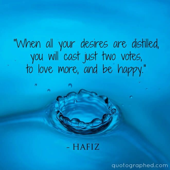 """Hafiz Quotes Classy Hafiz Quotes  """"When All Your Desires Are Distilled You Will Cast"""
