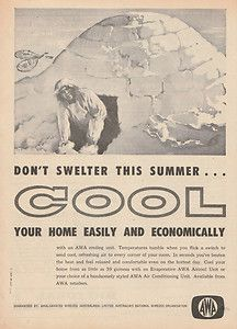 1961 Awa Air Conditioners Cooling Ad
