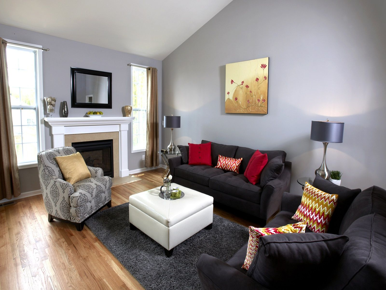 Living Room Warm Gray Colors