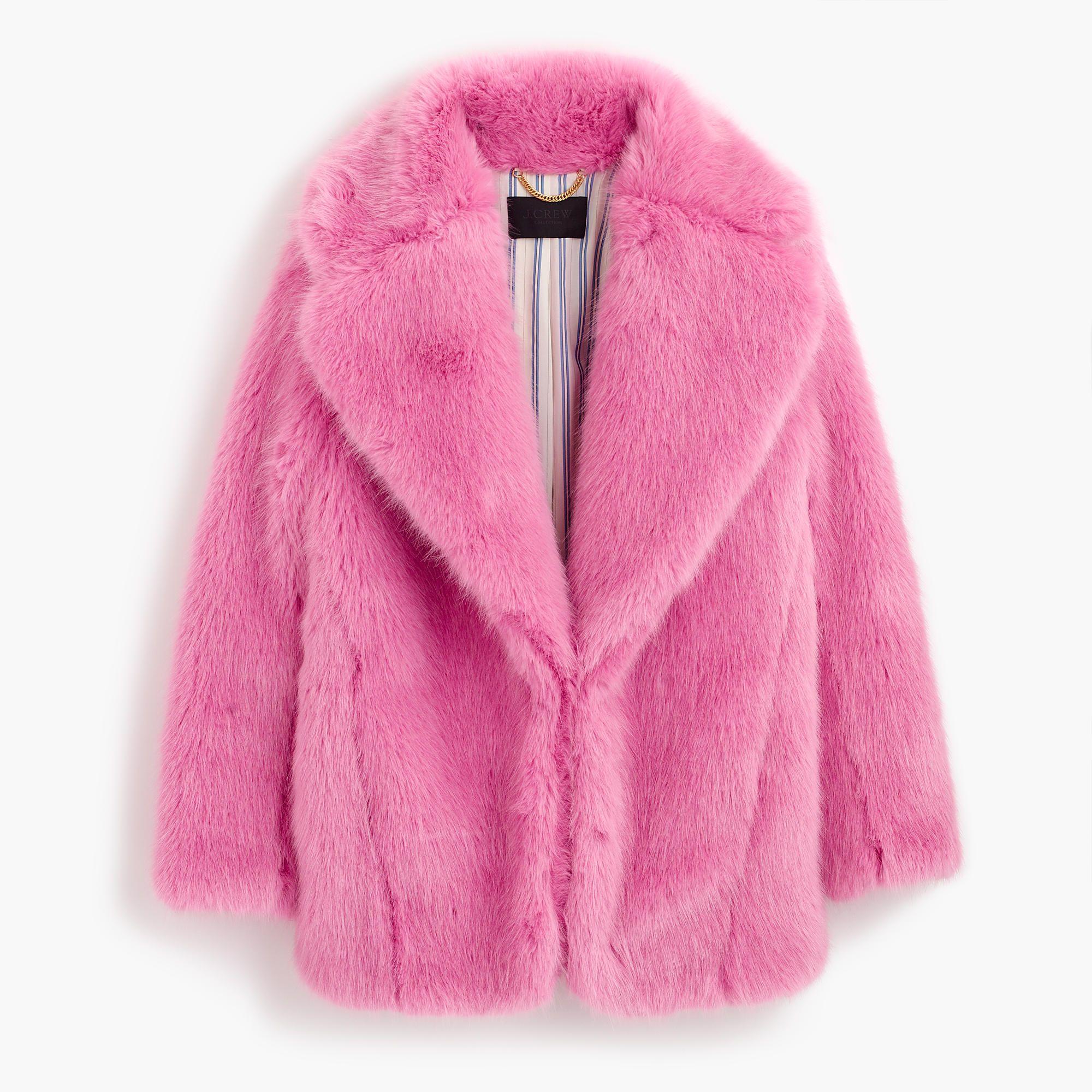 J Crew Collection Faux Fur Jacket Fur Jacket Pink Fur Coat Coats For Women [ 2000 x 2000 Pixel ]