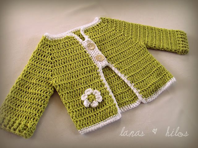 Chaqueta ganchillo | Ganchillo para niñas | Pinterest | Häkeln baby ...