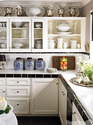 How To Decorate With Black And White Decorating Above Kitchen Cabinets Kitchen Design Small Above Kitchen Cabinets