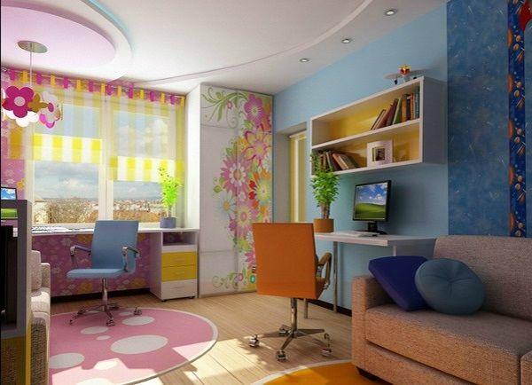kinderzimmer komplett gestalten - junge und mädchen teilen ein, Wohnzimmer design