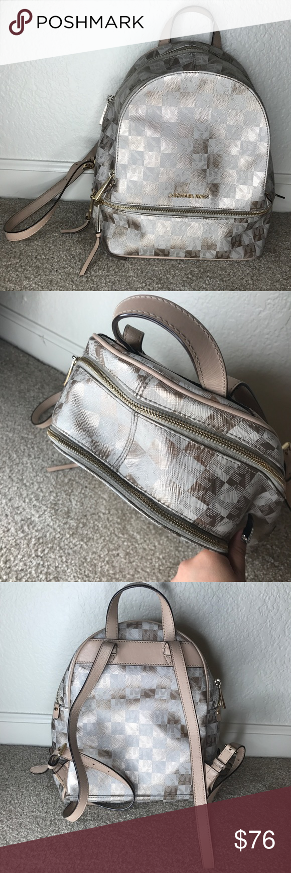b62841ac88f1 AUTHENTIC MICHAEL KORS MEDIUM BACKPACK💗loved. Authentic Michael Kors  medium sized backpack purchased from