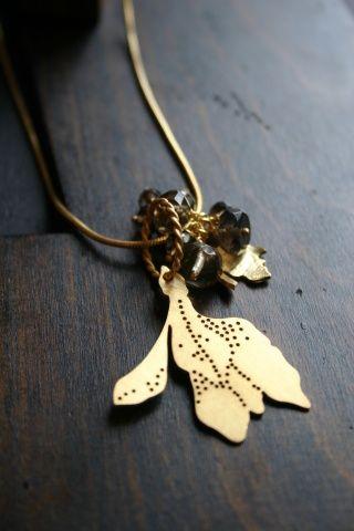 Budding Leaf Cluster Necklace...it