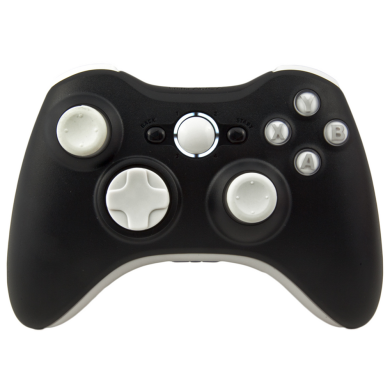 Black And White Pro Series Xbox 360 Controller With White Ring Of Light Xbox 360 Controller White Ring Xbox 360