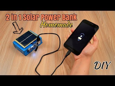 How To Make 2 In 1 Solar Power Bank From Scrap Laptop Battery Diy Homemade Youtube Solar Power Bank Solar Power Solar Battery Bank