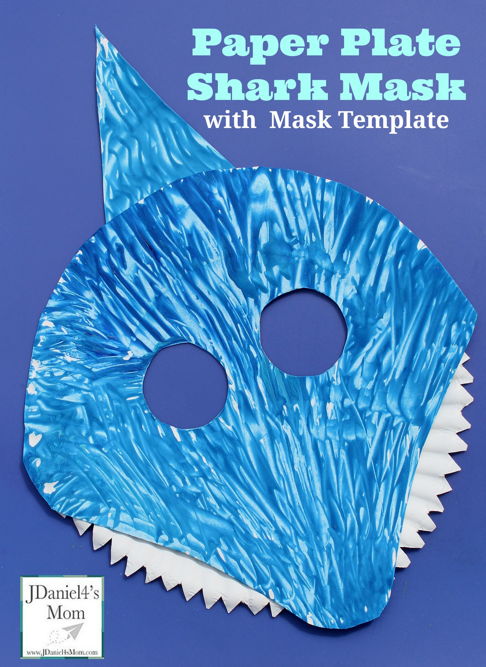 Paper Plate Shark Mask and Mask Template | JDaniel4's Mom (From My