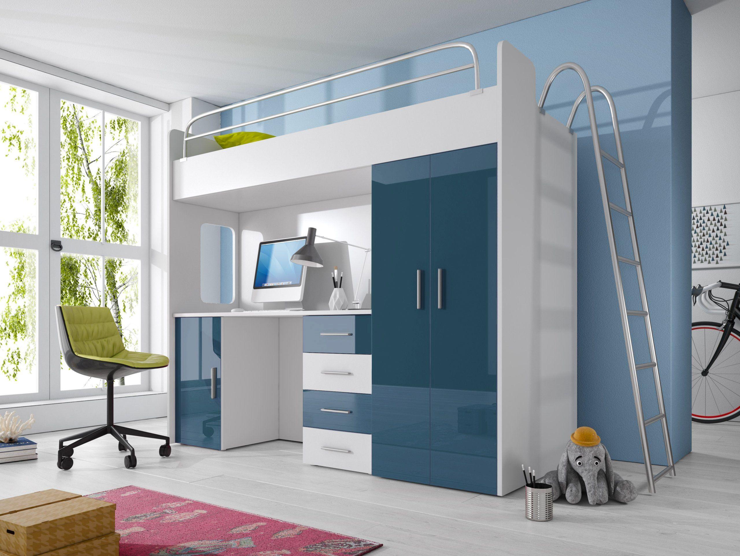 Kinderhochbett Smart Kinder Hochbett Mit Schreibtisch Und