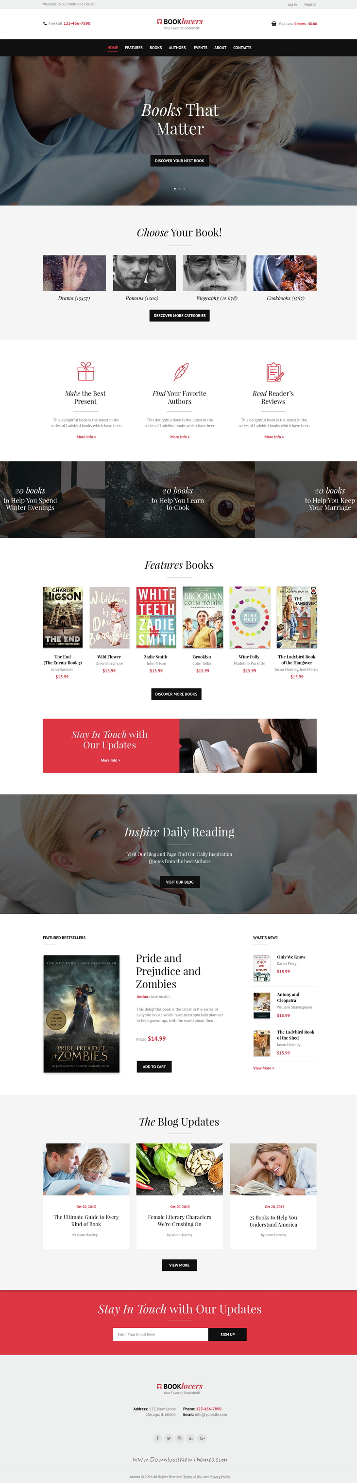 Booklovers - Publishing House & Book Store WordPress Theme ...