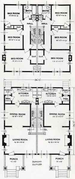 Standard Home Plans For 1926 The Dumont House Plans How To Plan House Floor Plans
