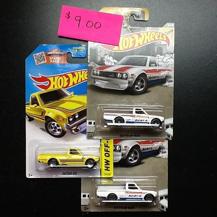 Hot Wheels cars For Sale $9.00 for all 3 Datsun 620s Price does not ...