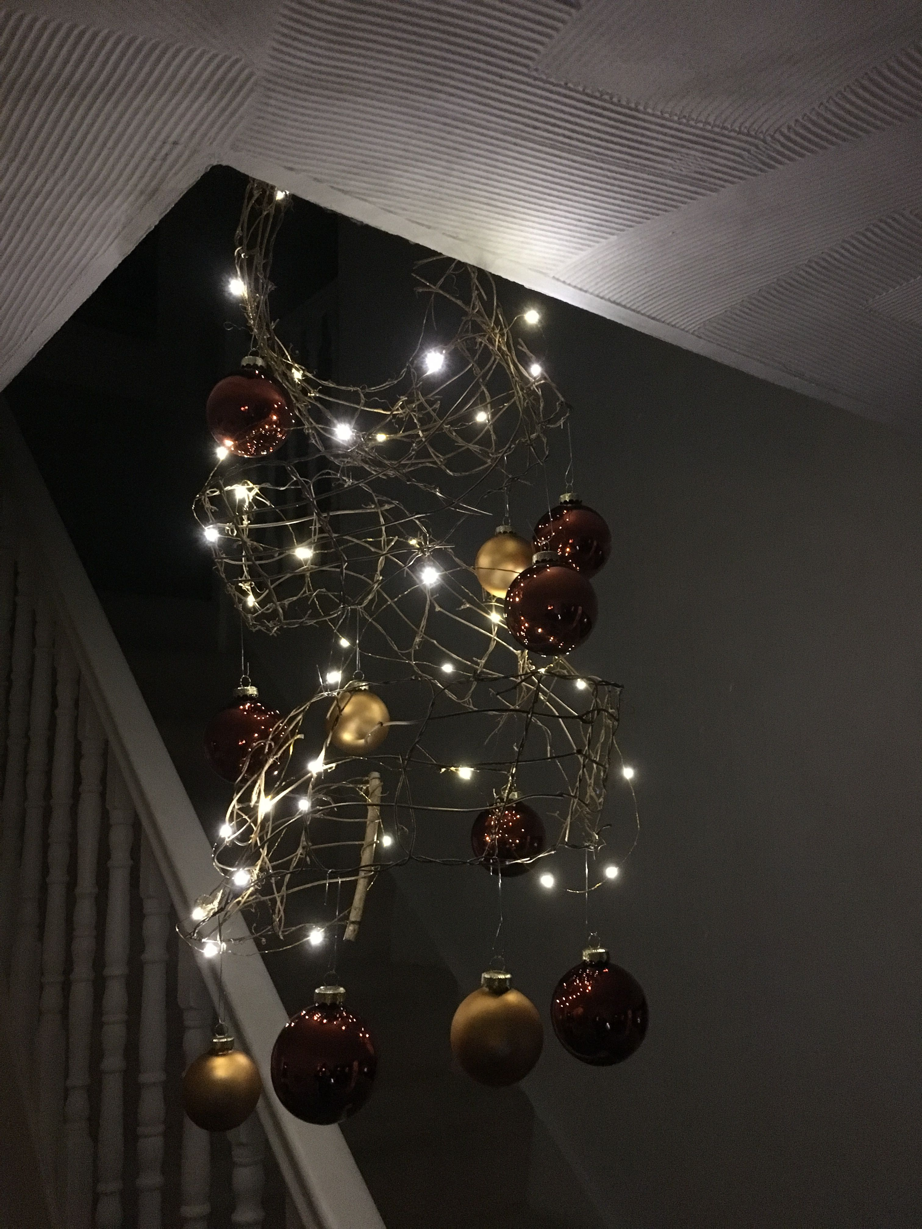 Simple Christmas feature using Konstsmide battery thin wire lights ...
