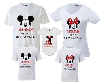 50dcc354e Birthday Family T-Shirts Disney Birthday Shirt Birthday Family Shirt Mickey  Mouse Birthday T-Shirt Minnie Mouse Birthday Tee