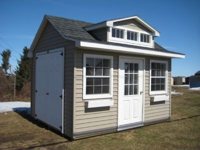10x12 Vinyl Country Cottage 59404 Prefab Garages Shed Modular Cabins