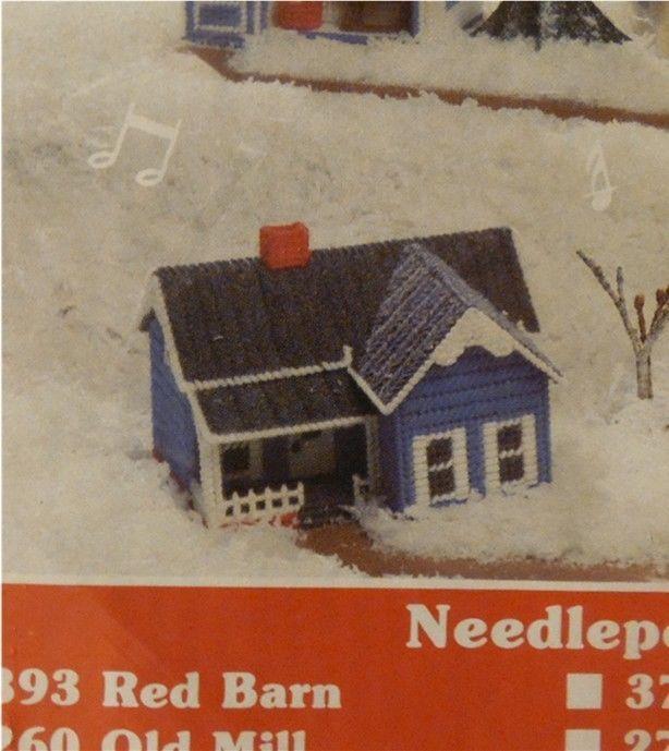 Mary Maxim Musical Plastic Canvas Needlepoint Village Kit