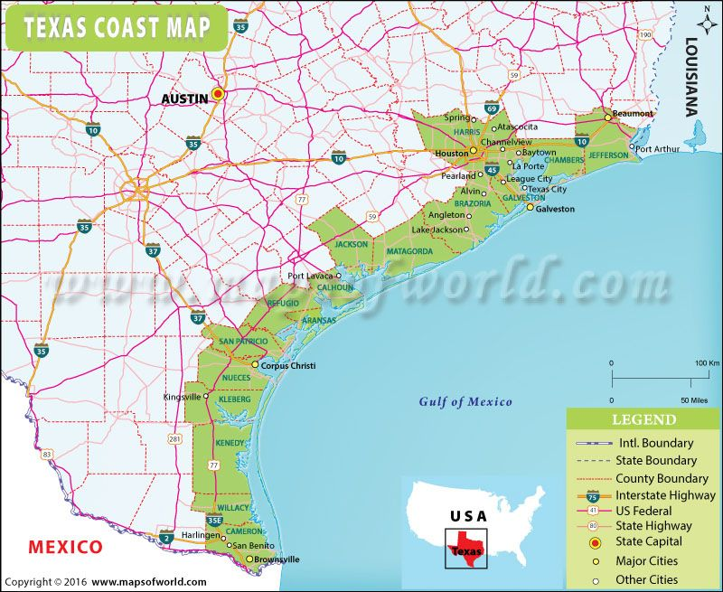 Texas Coast Map Maps Pinterest Texas and City