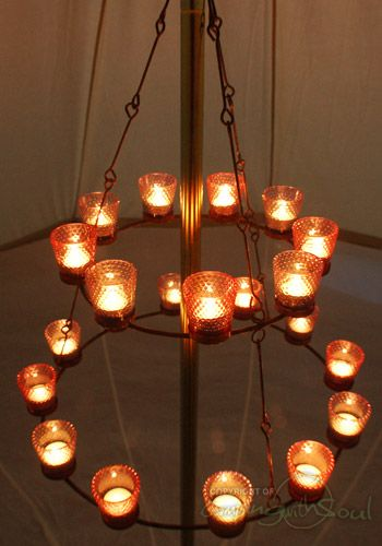 Pin By Mary Fox On Craft Ideas Tea Lights Tent Decorations Chandelier Lighting
