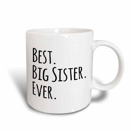 3dRose Best Big Sister Ever