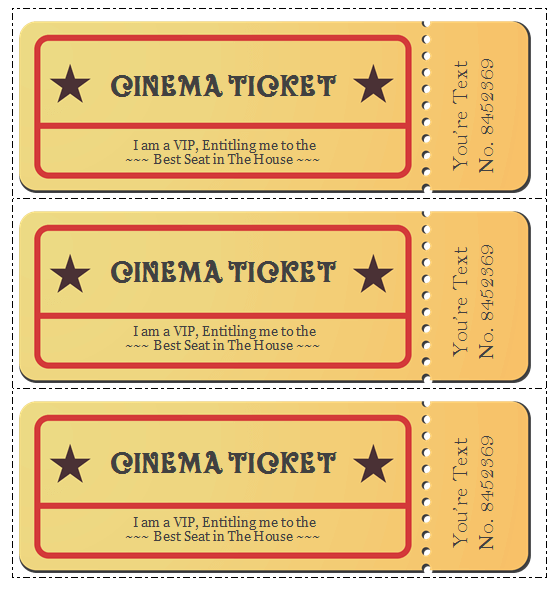 microsoft word ticket templates