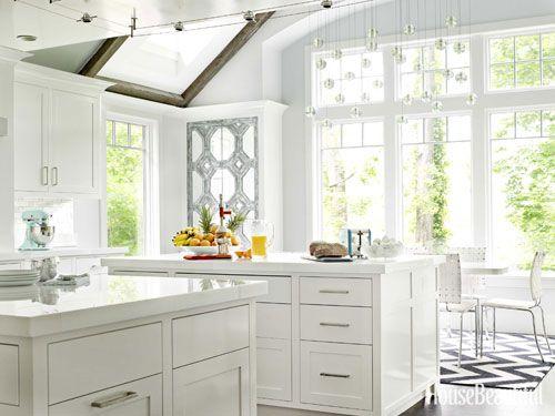 A Kitchen With Shine Kitchen White Countertops White