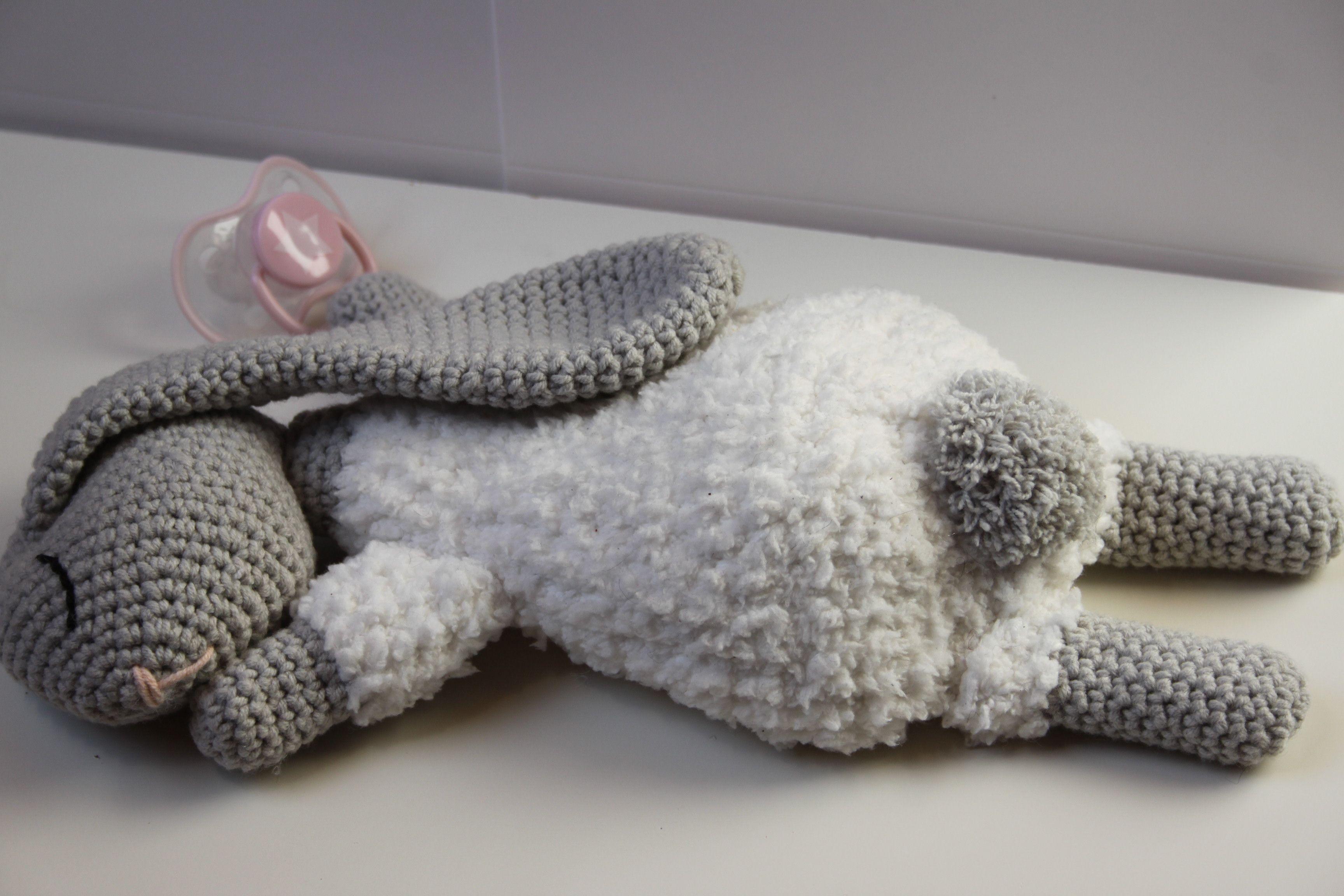 Vaak Hazeslaapje - Baby knuffel - Kraamcadeau - Haken - Haakpatroon #GM32