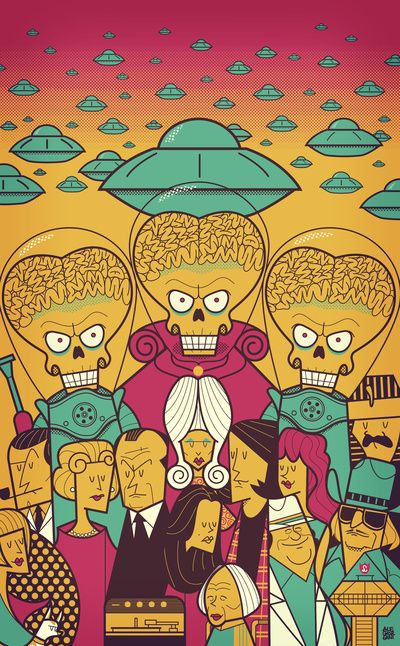 #MarsAttacks! #illustration by Ale Giorgini  -  #Ilustración de Mars Attacks! de Ale Giorgini