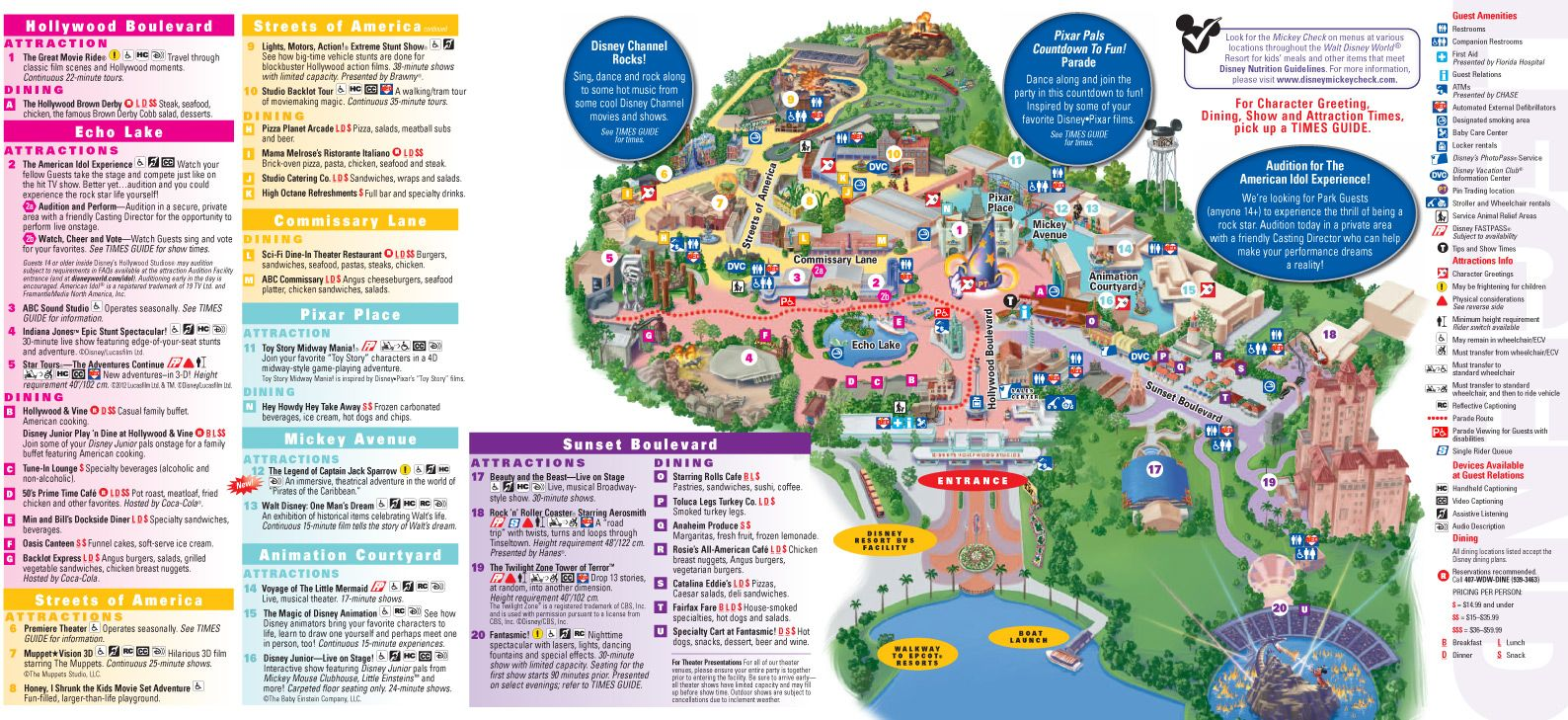 image relating to Printable Disney Maps identified as 2013 Hollywood Studios Map Vacation towards Disney inside of 2019 Disney