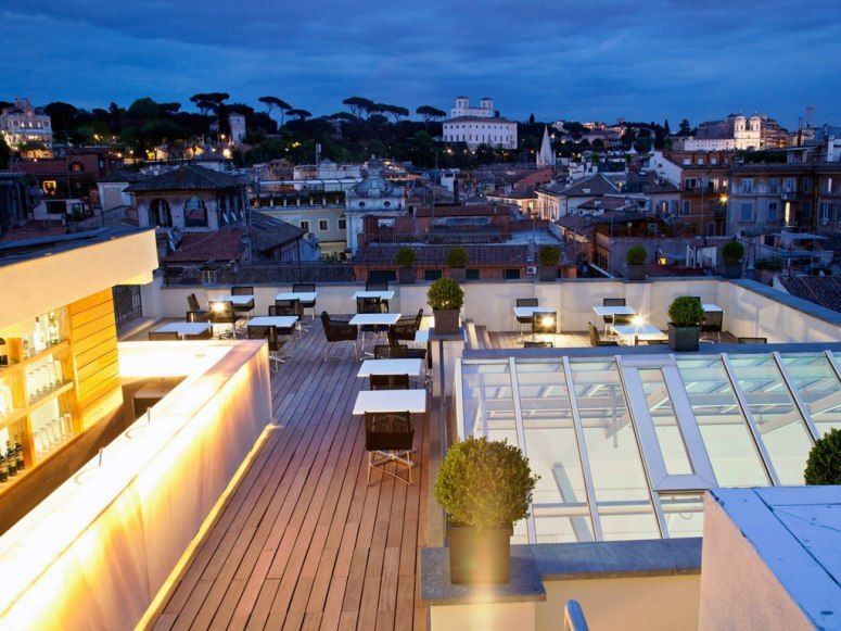 Rooftop Hotel Bars with Incredible Views Rome italy, Rome and Villas - hotel barcelone avec piscine sur le toit