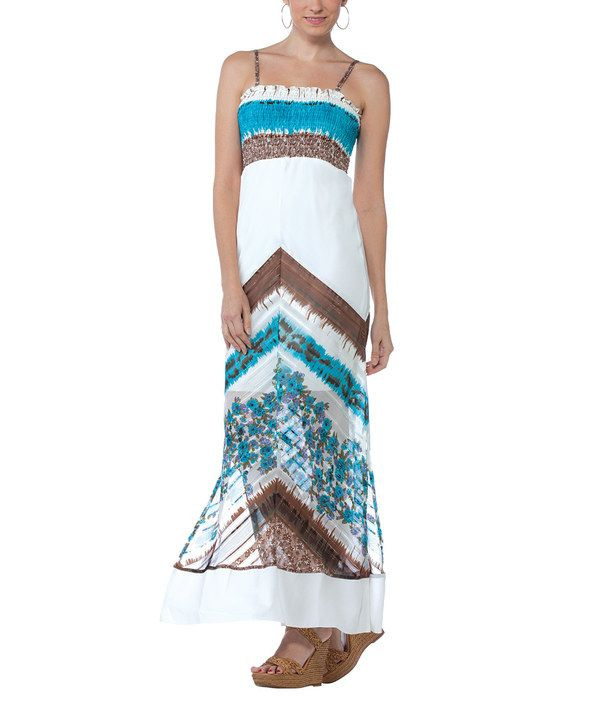 Look at this Turquoise Georgette Maxi Dress on #zulily today!