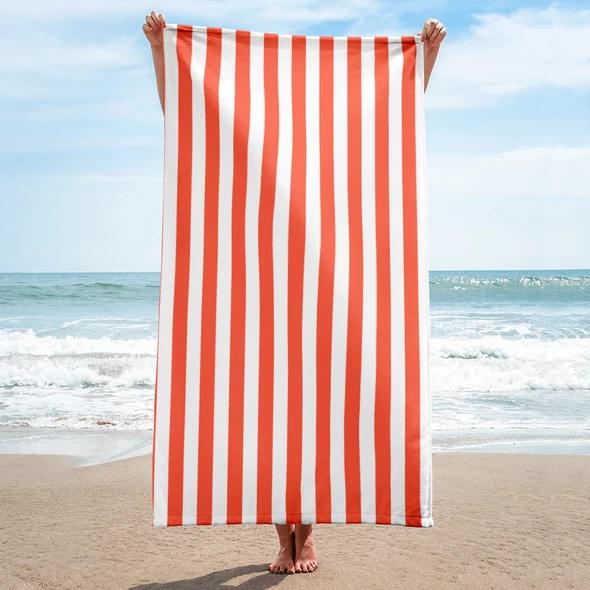 Orange Florida Stripes Beach Towel In 2020 Striped Beach Towel
