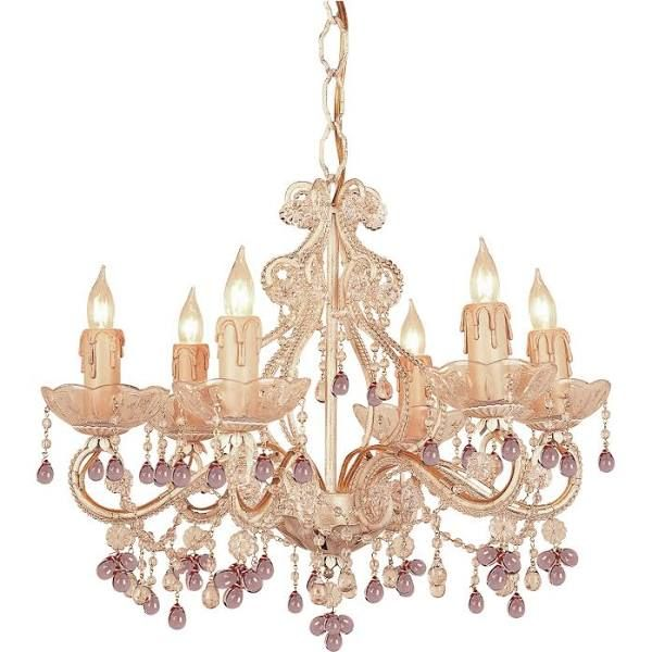 Rose gold chandelier crystal