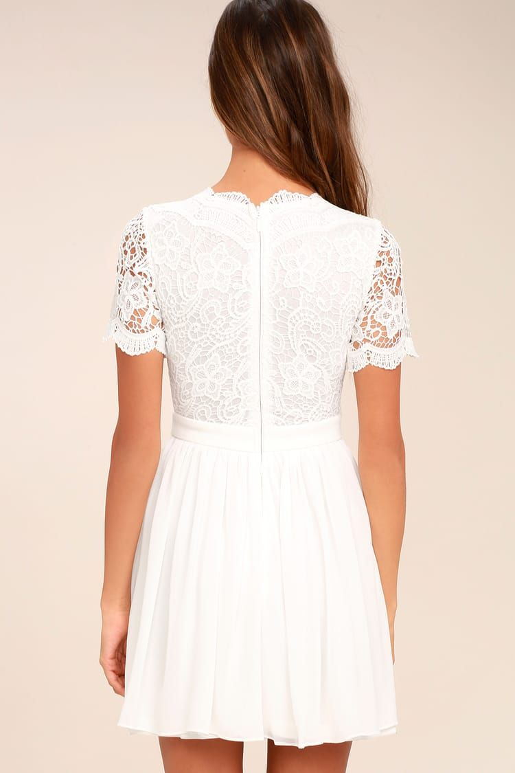 Angel In Disguise White Lace Skater Dress White Lace Skater Dress White Short Dress Lace Skater Dress [ 1125 x 750 Pixel ]