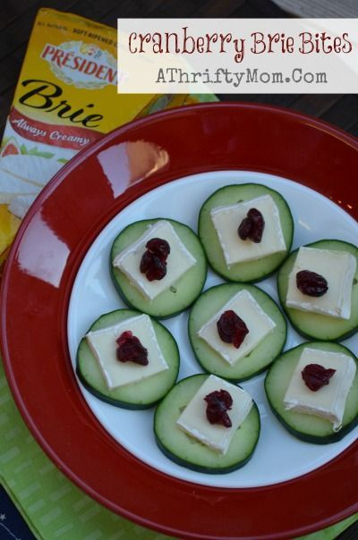 Cranberry Brie Bites ~ Fast and Easy Healthy Snack #PartyRecipe #cranberrybriebites Cranberry Brie Bites a fast and healthy snack perfect for any occasion, Brie Cheese Recipe, #Cheese, #Albertsons #cranberrybriebites