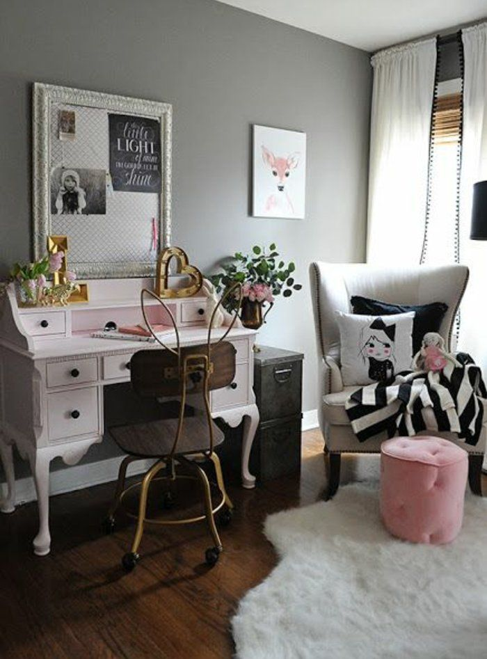 deco chambre fille ado vintage. Black Bedroom Furniture Sets. Home Design Ideas