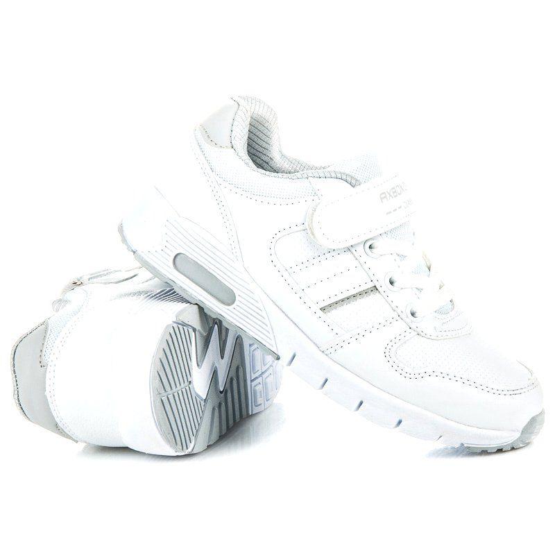 Buty Sportowe Dzieciece Dla Dzieci Axboxing Biale Obuwie Na Wiazanie I Rzep Ax Boxing Adidas Sneakers Adidas Tubular Sneakers