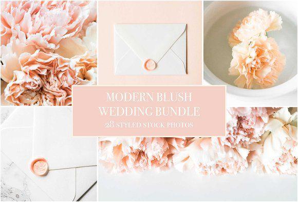 Modern Blush Wedding Bundle  - Product Mockups