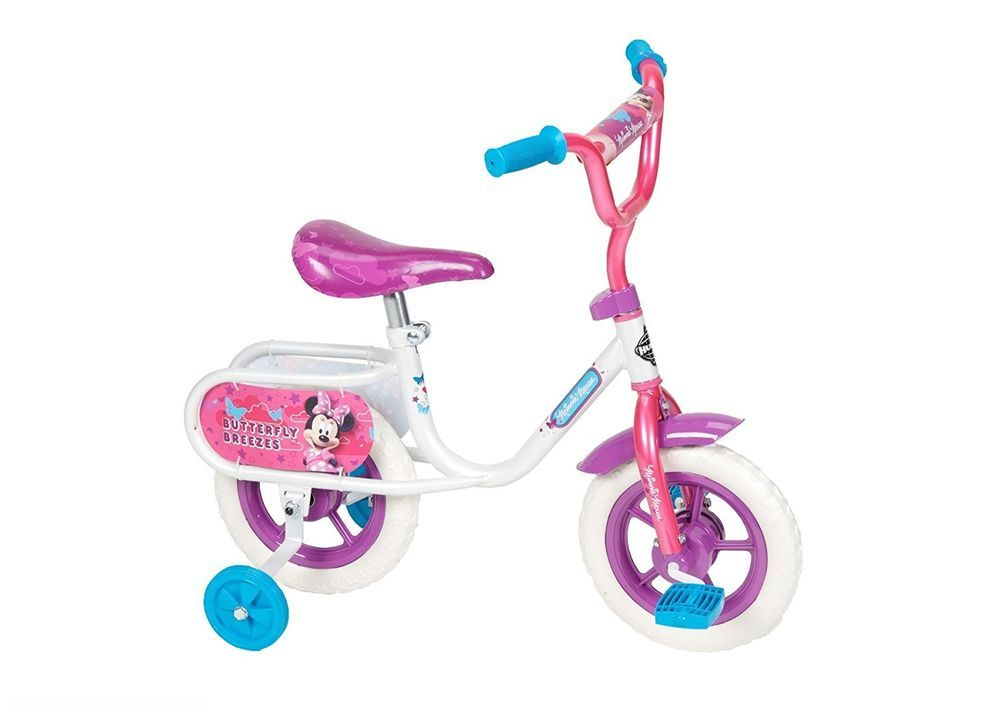 10 Inch Toddler Bike Disney Minnie Mouse Girls Training Wheels Pink Purple Kids Huffy Bike With Training Wheels Kids Bike Tricycle