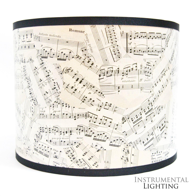 Sheet Music Drum Lamp Shade. $75.00, Via Etsy.