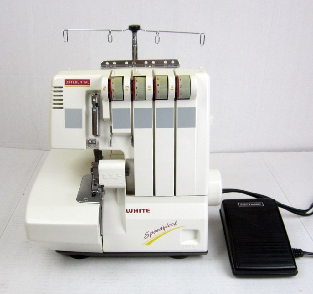 white speedylock differential serger sewing machine model 7340 for rh pinterest com