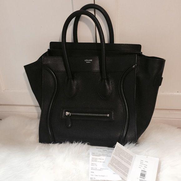 681c57536707 Authentic CELINE mini luggage tote! 100% authentic Celine mini luggage tote  in black pebbled
