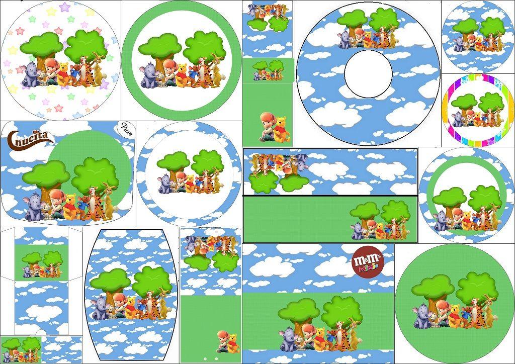 Winnie the Pooh: Etiquetas Candy Bar para Imprimir Gratis.