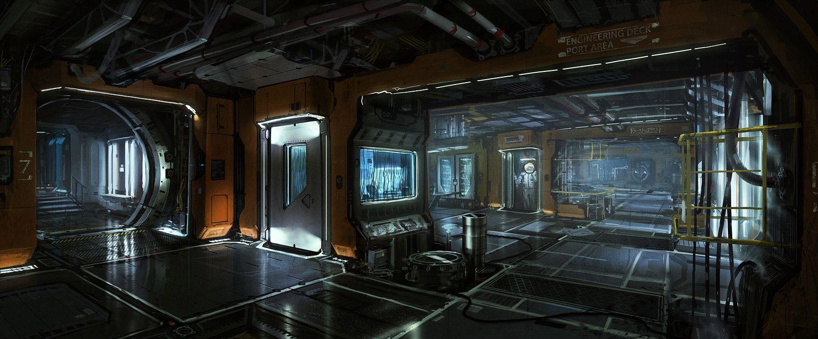 spaceship interior concept art spaceship interiors. Black Bedroom Furniture Sets. Home Design Ideas